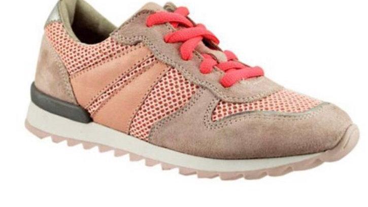 Roze sportieve vetersneaker