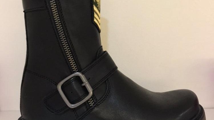 zwarte korte laars met embleem