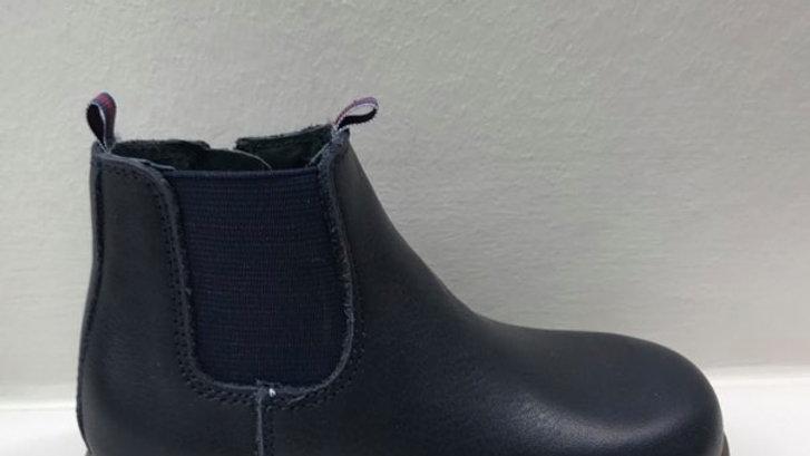 Donkerblauwe klassieke chelsea boots