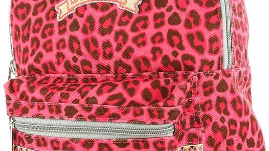 Roze luipaard rugzak