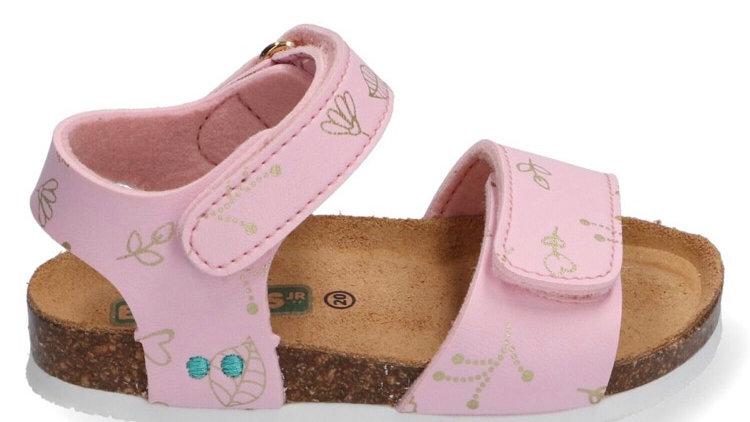 Roze velcro sandalen met tekening