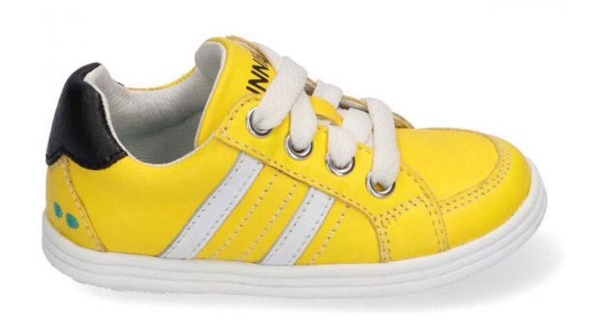 Gele vetersneakers laag model
