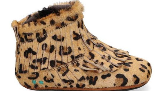Soepel luipaardschoentje met rits