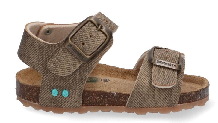 Taupe sandaaltje met gespen