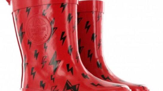 rode regenlaarsjes bliksem