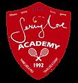 sla tennis team beveled 2red shield sign