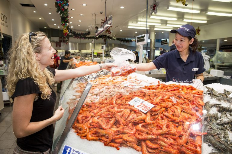 Ask for Aussie seafood this Christmas. Image credit Seafood Industry Australia – Sydney Fish Market. Picture James Horan.