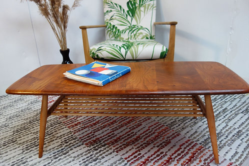 Ercol coffee table in Elm and Beech
