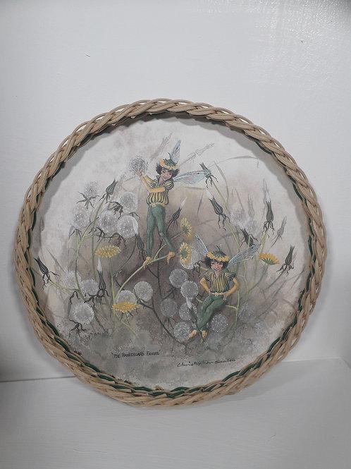 Vintage melamine Hawksbeard Fairies Tray