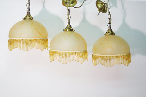 A collection of Boudoir Glass Light Shades and Fittings