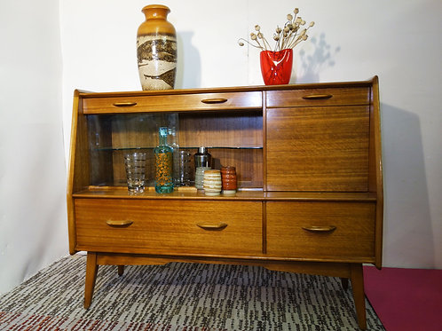 E Gomme (G Plan) Sideboard Display Cocktail Cabinet Designed By Vb Wilkins