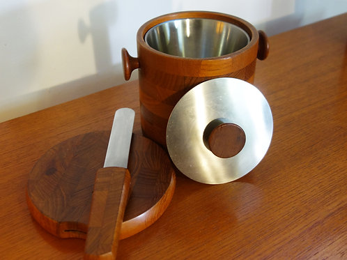 Wooden Ice bucket and Cheeseboard