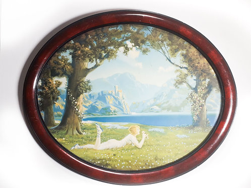 Atkinson Fox prints in wooden oval frame.