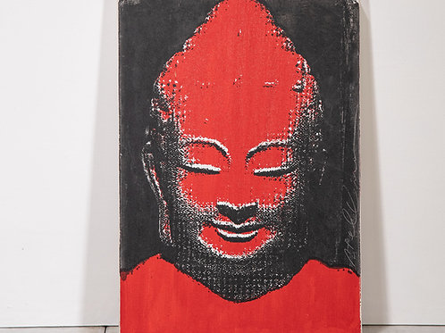 Screen print Buddha