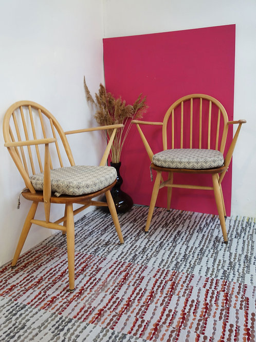 Ercol low fireside chairs