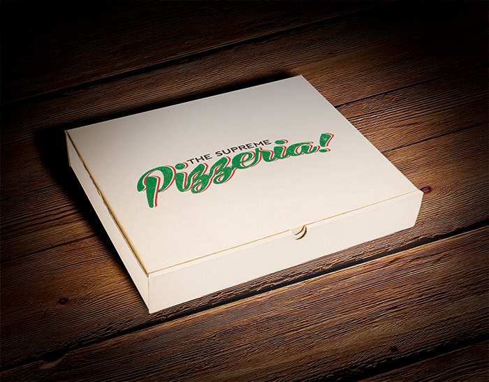 PIZZA BOX & LOGO