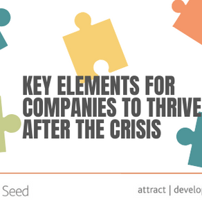 Key elements for companies to thrive after the crisis