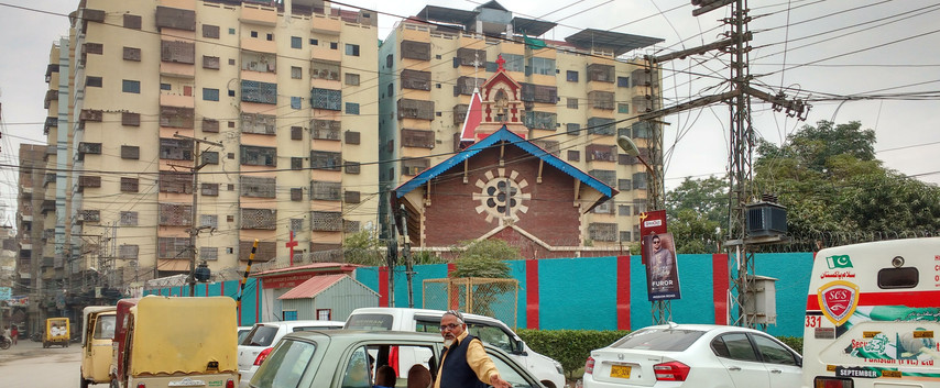 St Saviour's outside compound