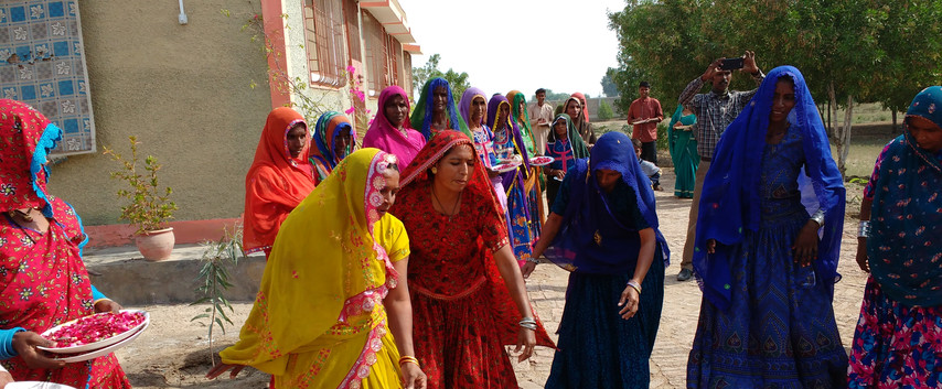 Welcome dance. Sahara Community Health Programme, Mirpurkhas.