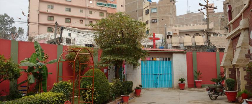 St Saviour's Church inside compound