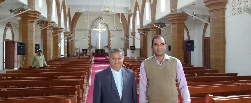 Revs. Daniel Fiaz & Naseem John. St. Thomas' Cathedral. A former Army Garrison Church