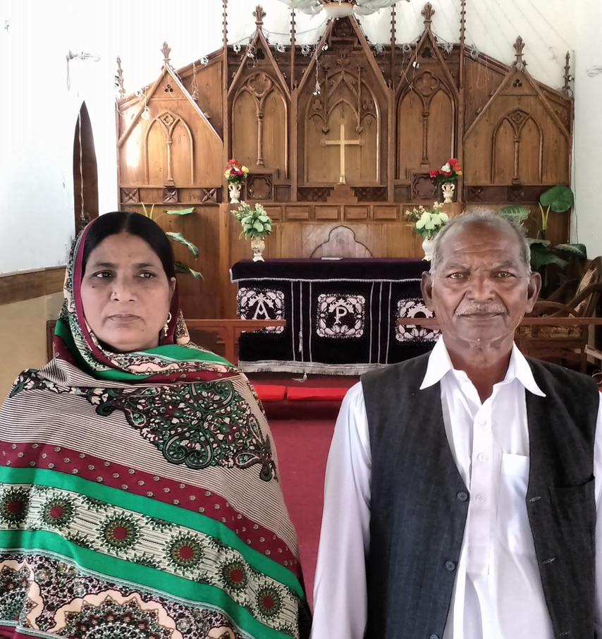 Christ Church, Kotri. Rev  & Mrs Ilyas