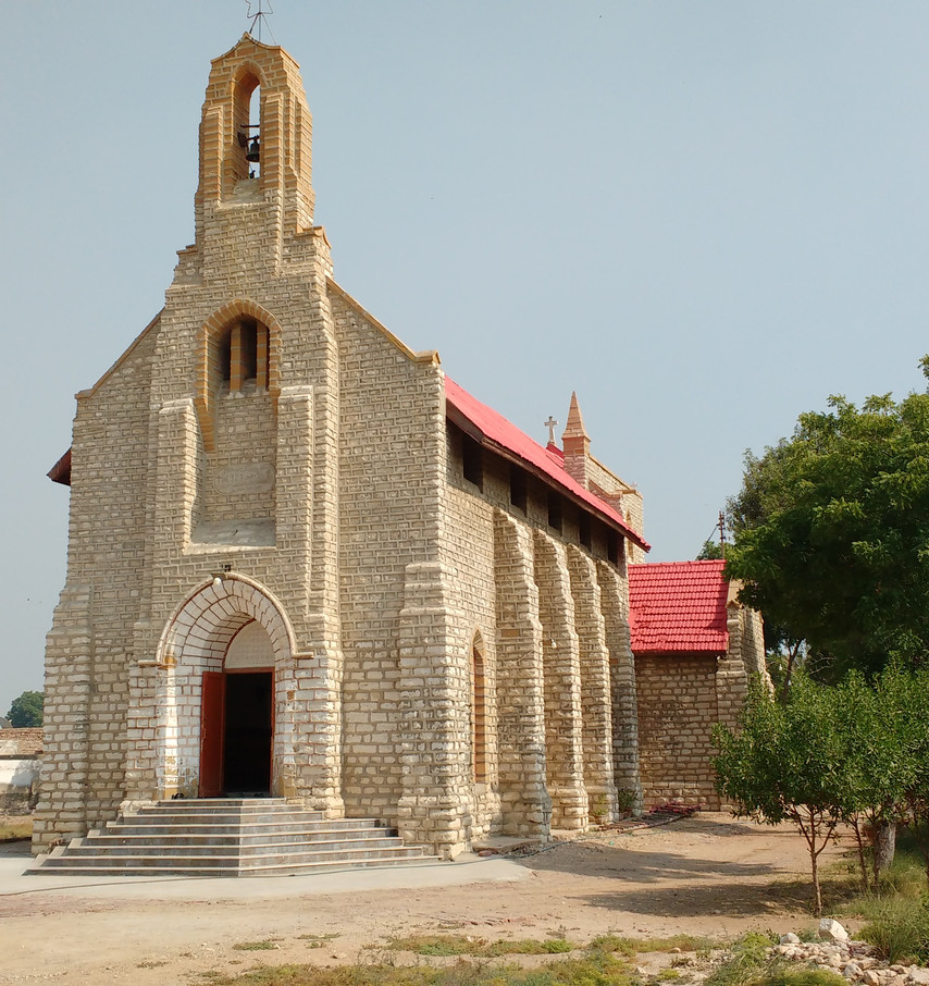 Christ Church, Kotri. Oldest working church building in Pakistan. Built to serve railway workers.