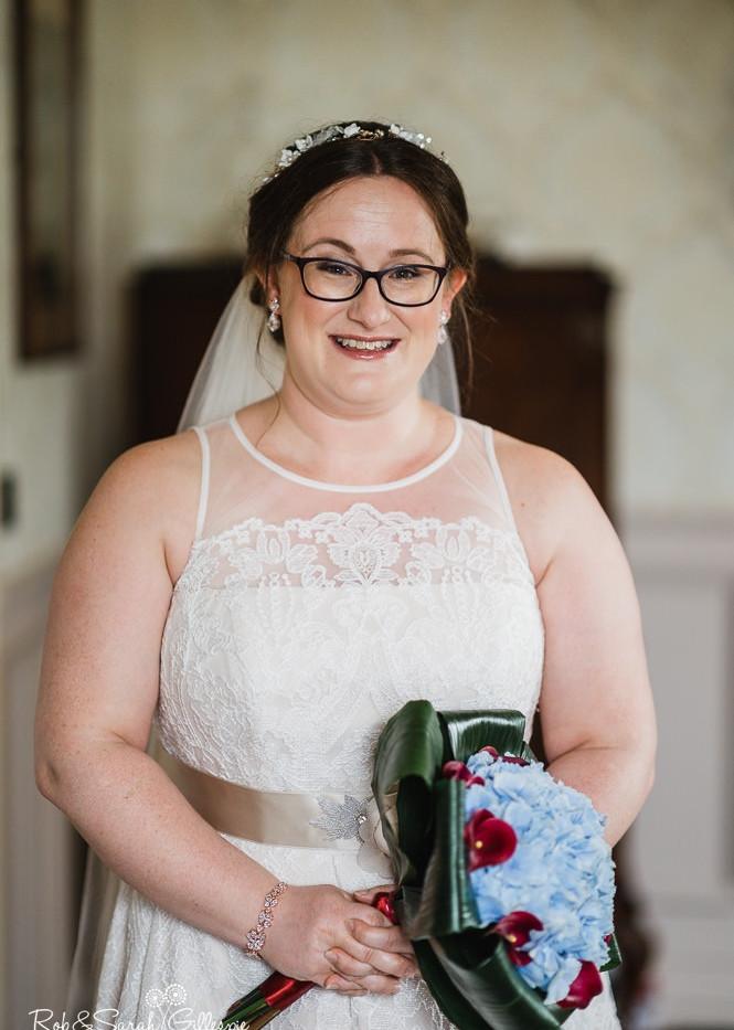 Sally on her wedding day .