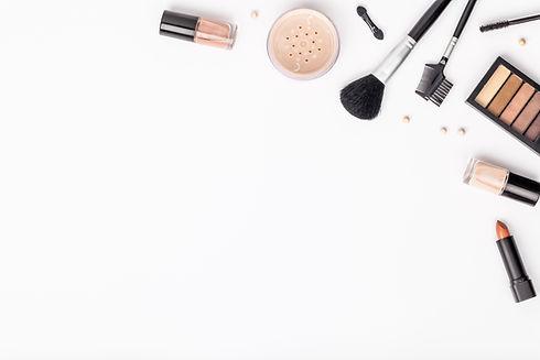 set of professional decorative cosmetics