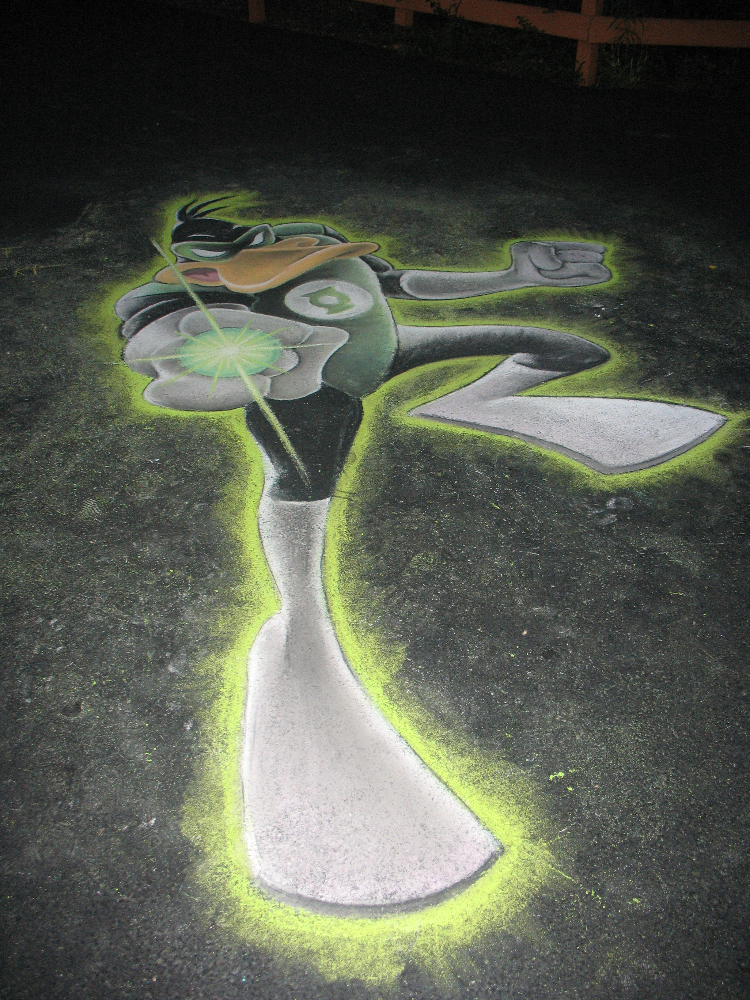 Daffy Duck as Green Lantern