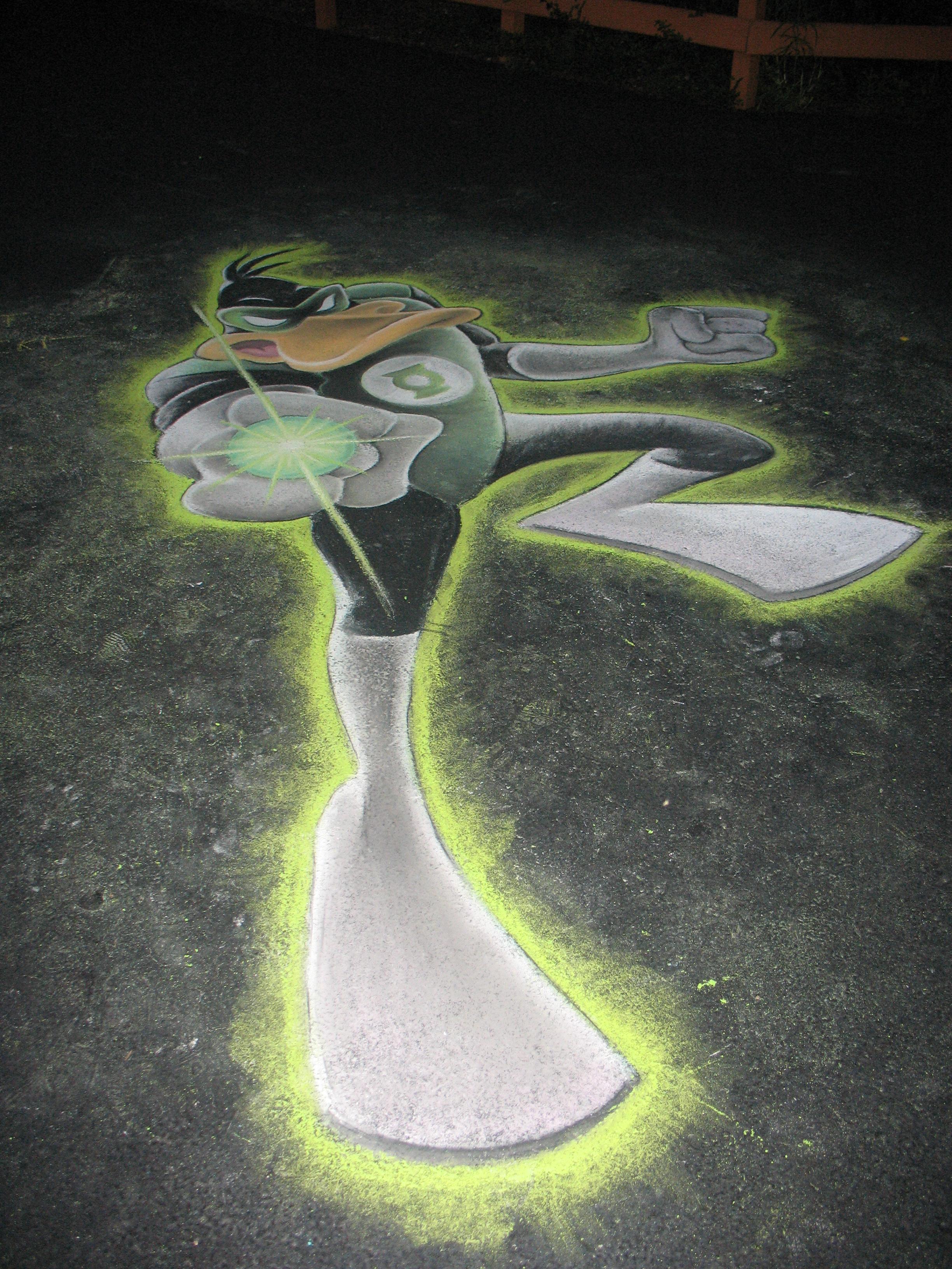 Daffy Duck as Green Lantern