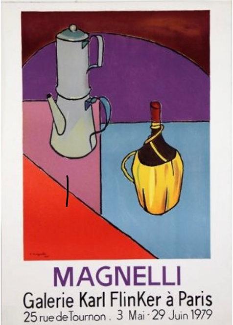 Alberto Magnelli galerie Finkler , affiche lithographique