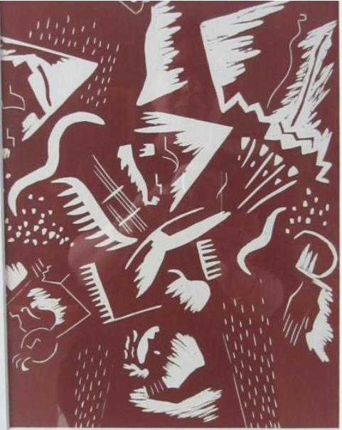 Gino SEVERINI (1883-1966)  Composition: planche de la revue XXeme siècle N°5-6, 1939 Lithographie en couleurs