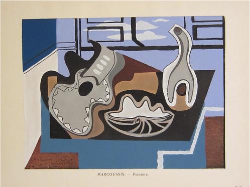 Louis Marcoussis, art cubiste, original print ,chez ART-limited , agnes thiebault