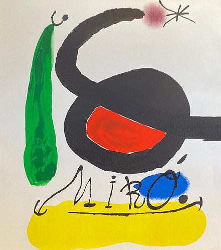 Joan Miro lithographie original , encadrée, chez agnes thiebault, Paris