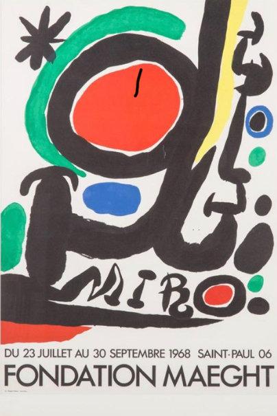 Joan MIRO Fondation Maeght, 20 juillet au 30 septembre1968, Saint Paul de Vence Affiche originale, chez agnes thiebault,