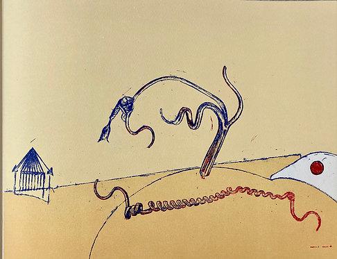 Max ernst original print  ,chez ART-limited , agnes thiebault