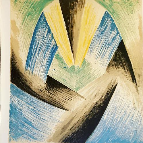 Léopold SURVAGE (1879-1968) Rythme coloré 1969 Lithographie en couleurs signée