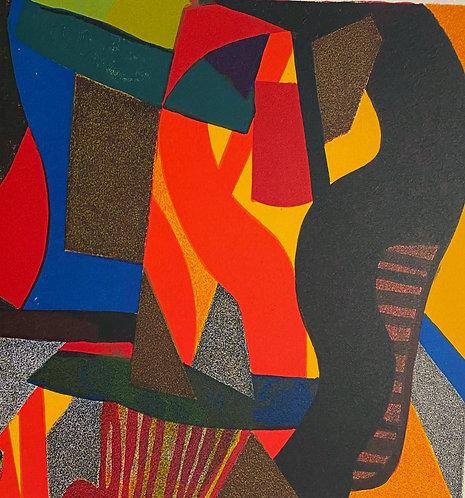 Maurice esteve, silence incandescent, lithographie  galerie agnes thiebault