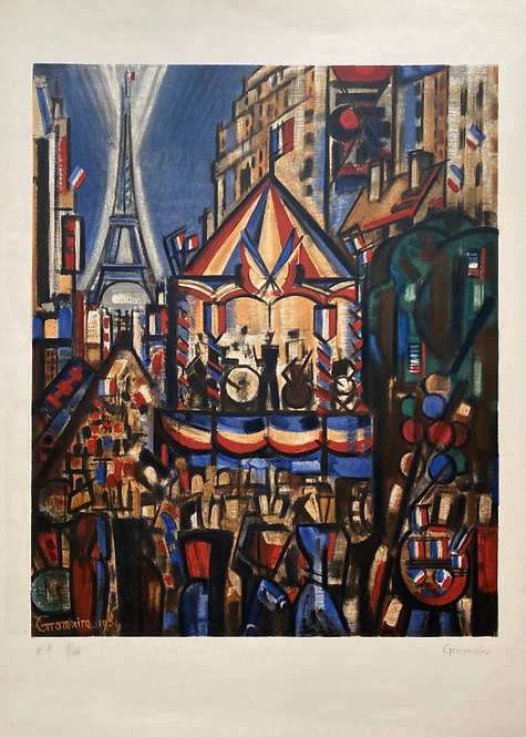 Marcel Gromaire original print  ,chez ART-limited , agnes thiebault