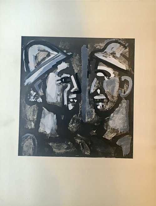 Georges ROUAULT (1871-1958) clowns,1933,  pochoir, edition Jeanne Buche