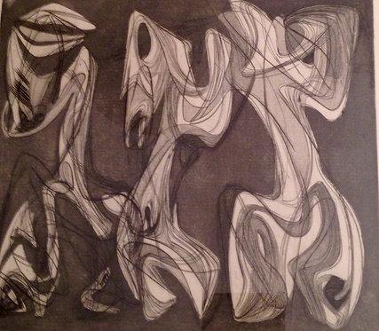 Helen Elizabeth PHILLIPS (1913-1994) Composition, 1939 Eau-forte, signée, chez agnes thiebault, paris