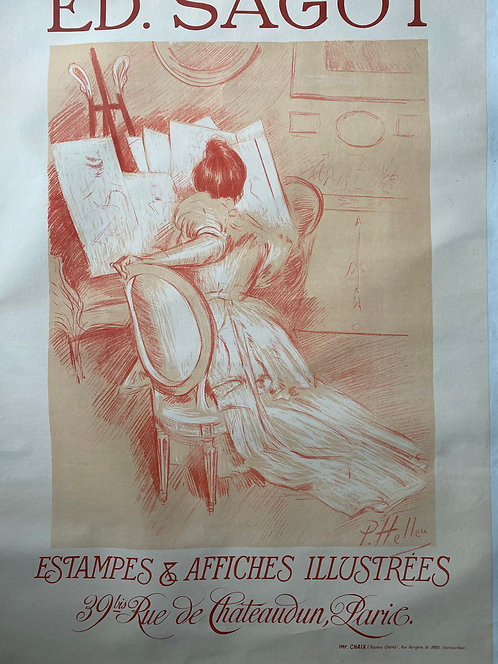 Paul - Cesar Helleu ESTAMPES ET AFFFICHES , 1900 , Sagot