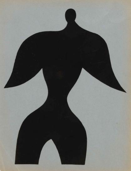 Hans Arp, homme,  lithographie, cahier d'art,  XXeme siècle  , galerie agnes thiebault, paris