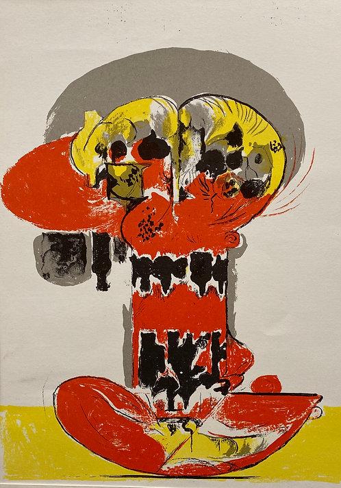 Graham SUTHERLAND Composition pour XXe Siècle, 1972  Lithographieoriginale en couleurs sur papier vélin, non signée.