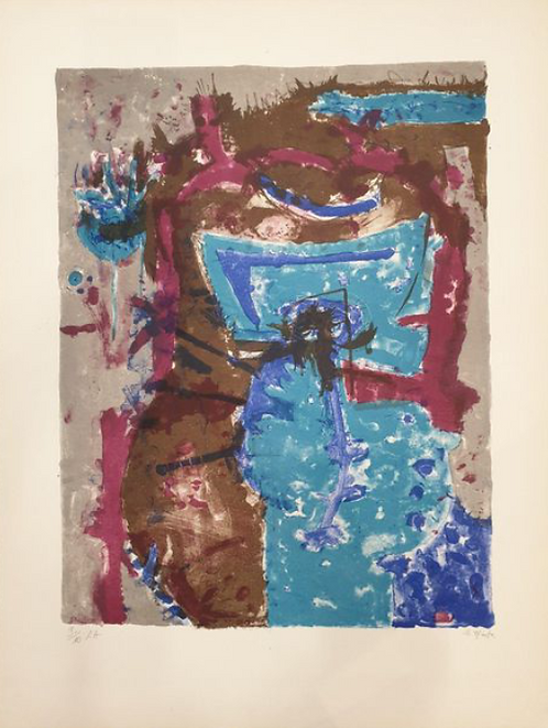 Rodolfo NIETO (1936-1988) COMPOSITION lithographiesignée,  chez agnes thiebault, paris