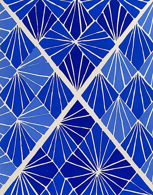 Sonia DELAUNAY1885-1979 Compositon bleue 1930 Planche originalecolorée au pochoir