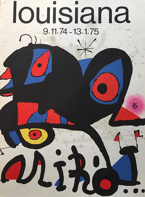 Joan MIRO (1893-1983) Exposition au Grand Palais en 1974  Impression en lithographie.