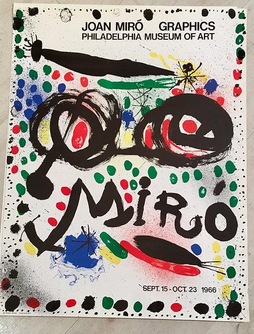 Joan MIRO (1893-1983) Graphics: Philadelphia Museum of Art Poster 1966