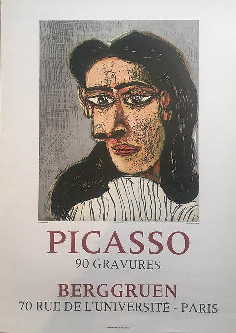 Pablo PICASSO (1881-1973) affiche lithographique originale. Galerie Berggruen, paris, 1971,